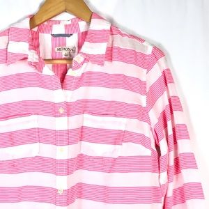 Bright Pink striped button up